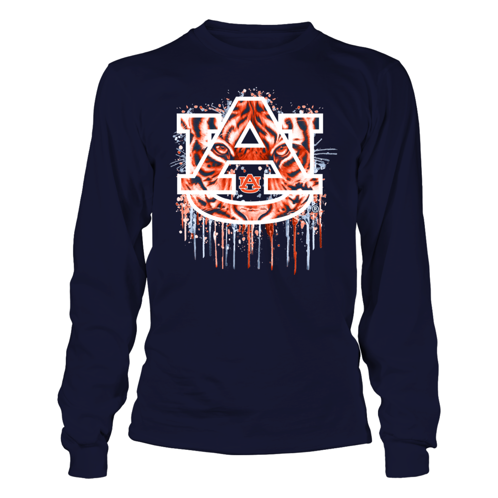 Auburn Tigers - Color Drop Tiger Pattern Logo Front picture