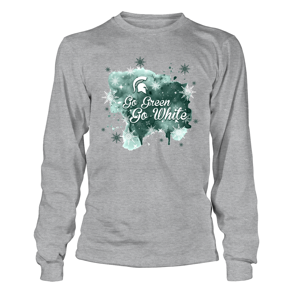 Michigan State Spartans - Christmas - Team Slogan Color Splash Front picture