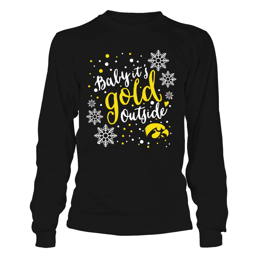 Iowa Hawkeyes - Christmas - Baby It's Gold Outside Front picture