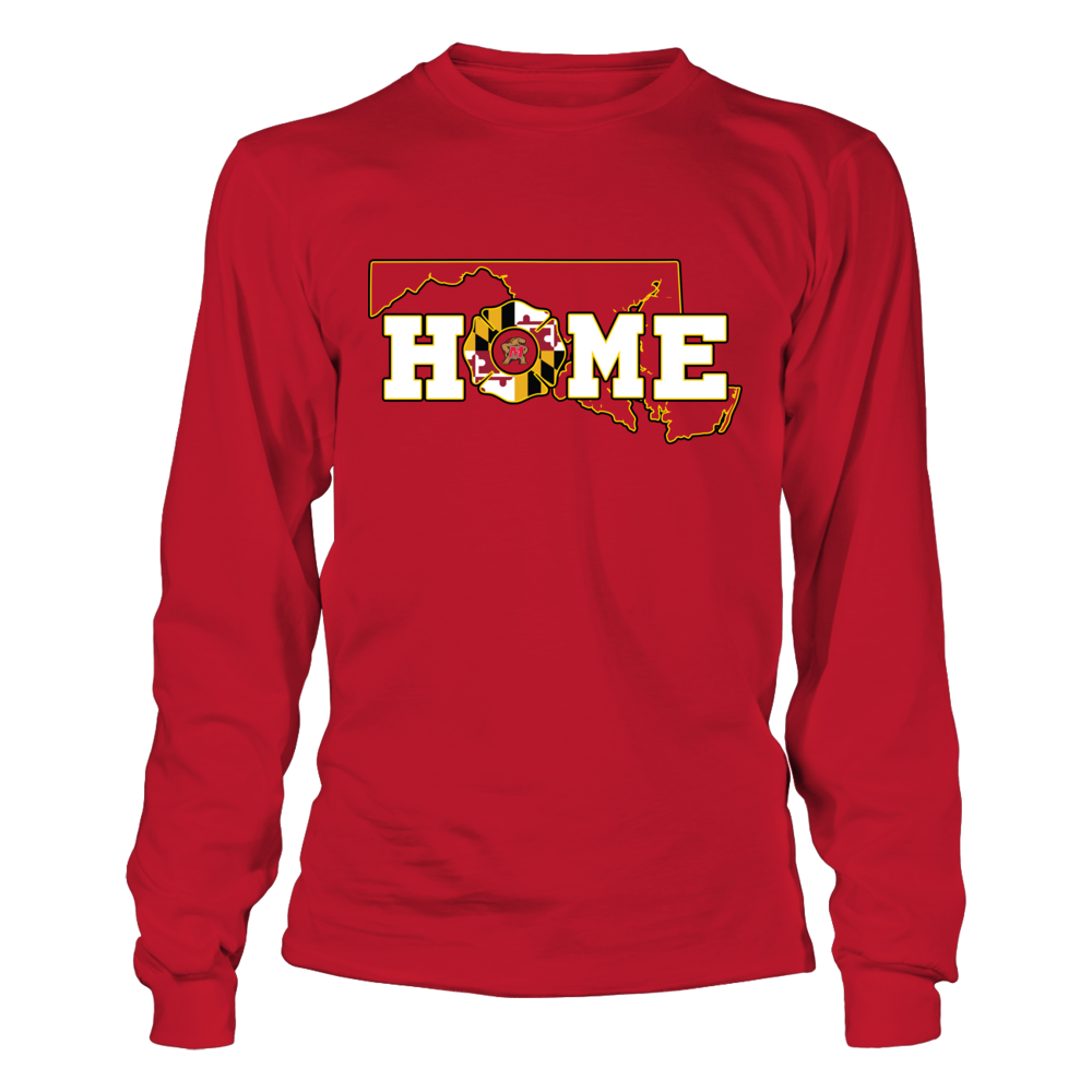 Maryland Terrapins - Firefighter - Home State Outline - Firefighter Emblem Front picture