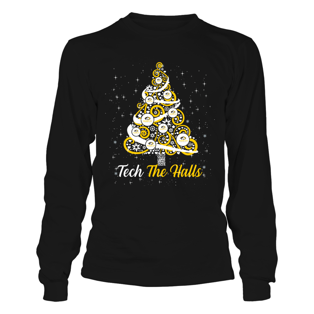 Michigan Tech Huskies - Logo Christmas Tree - Team Christmas Quote Front picture