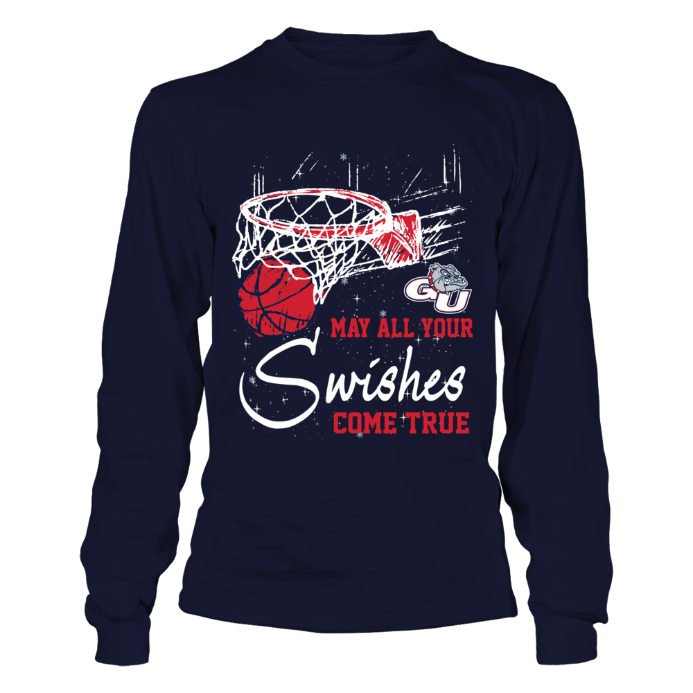 Gonzaga Bulldogs - Christmas - May All Your Swishes Come True Front picture