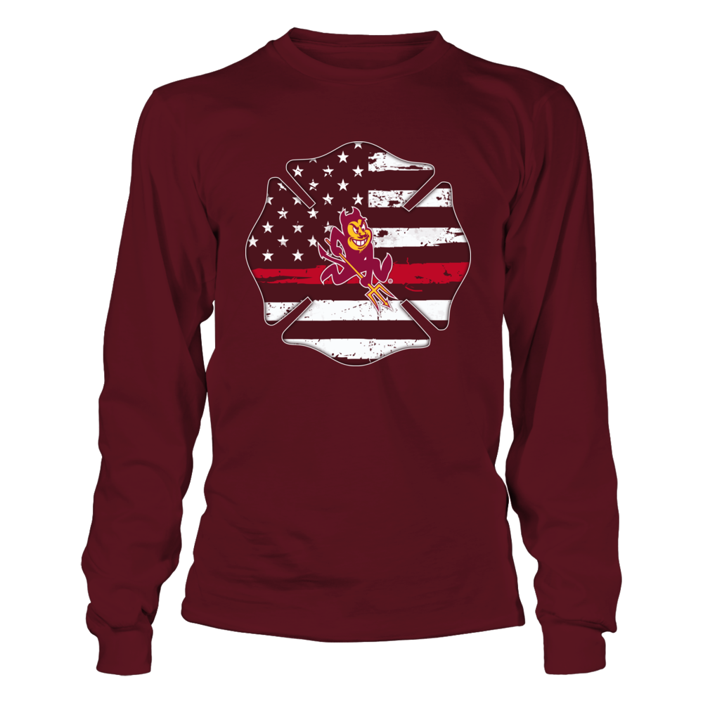 Arizona State Sun Devils - Thin Red Line Inside Firefighter Logo Front picture