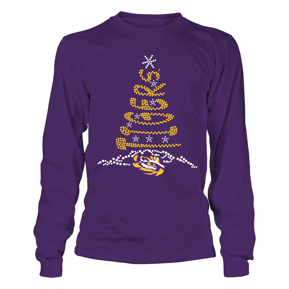 LSU Tigers - Christmas Tree - Team Quote Front picture