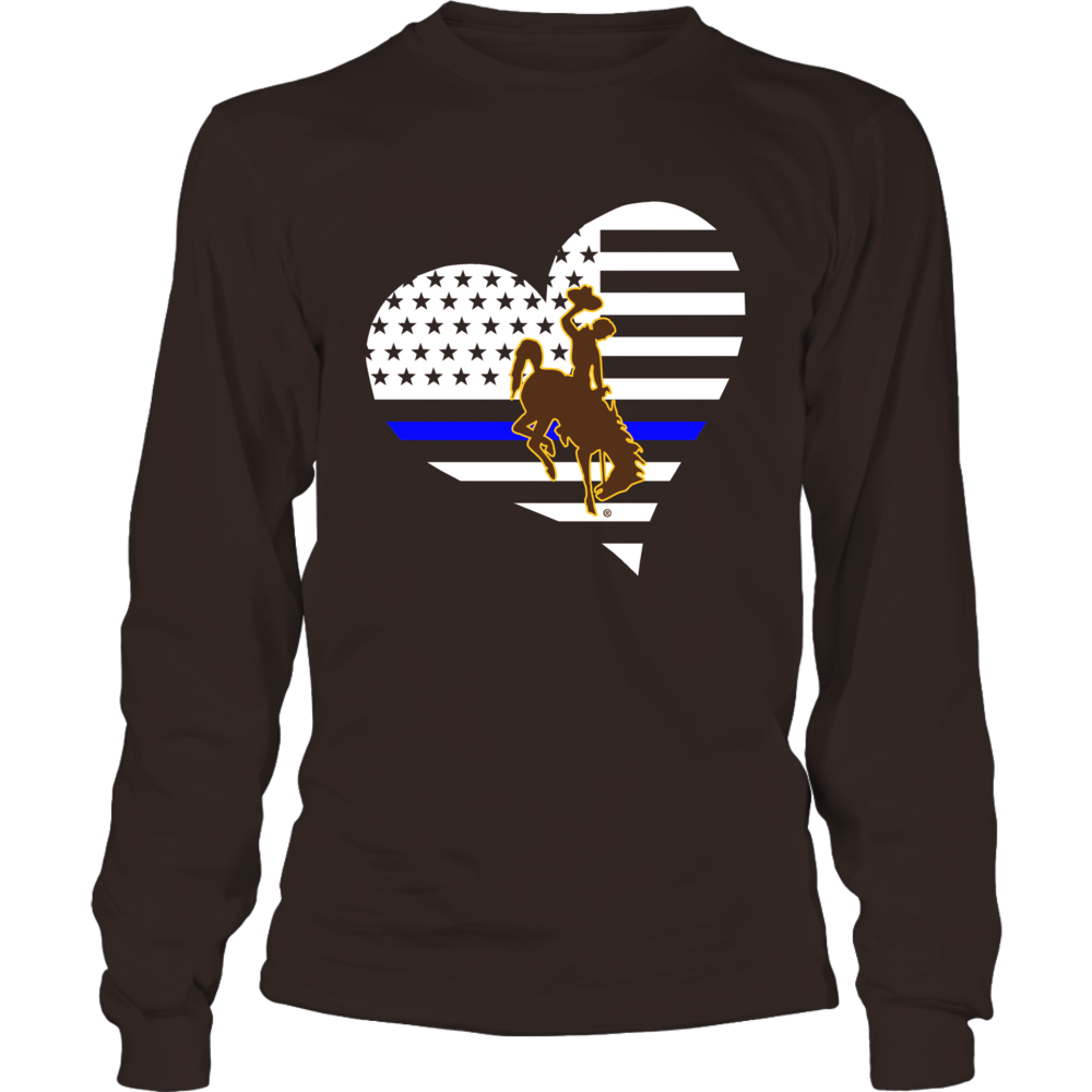 Wyoming Cowboys - Police - Thin Blue Line - Heart Front picture