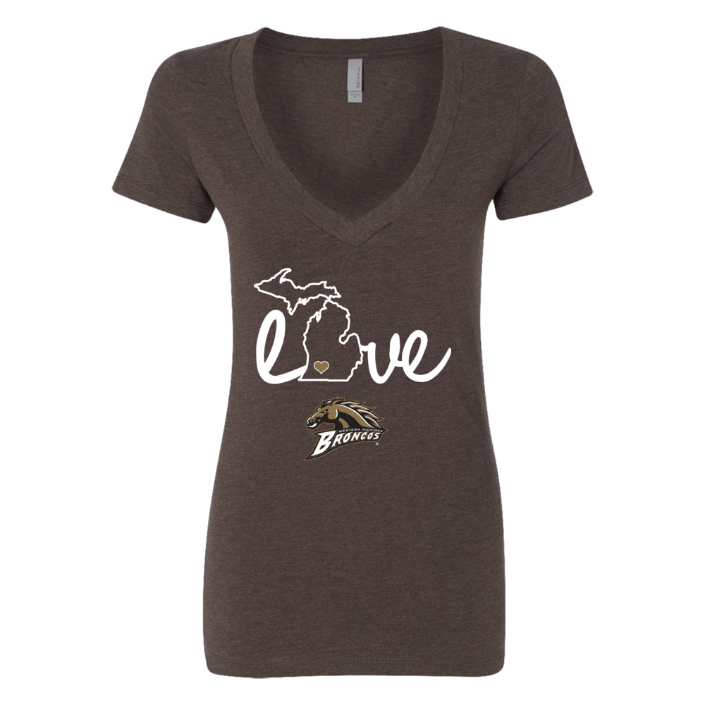 WMU Broncos - Love With State Outline Front picture
