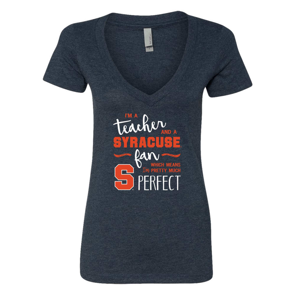 Perfect Teacher Syracuse Orange Fan T-Shirt | Tank | Hoodie Front picture
