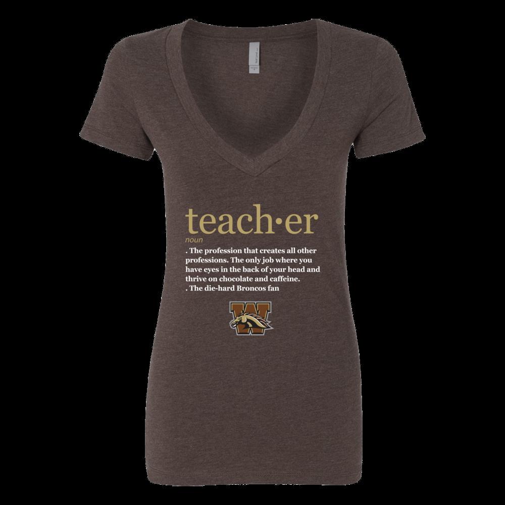 Western Michigan Broncos - Teacher Definition Front picture