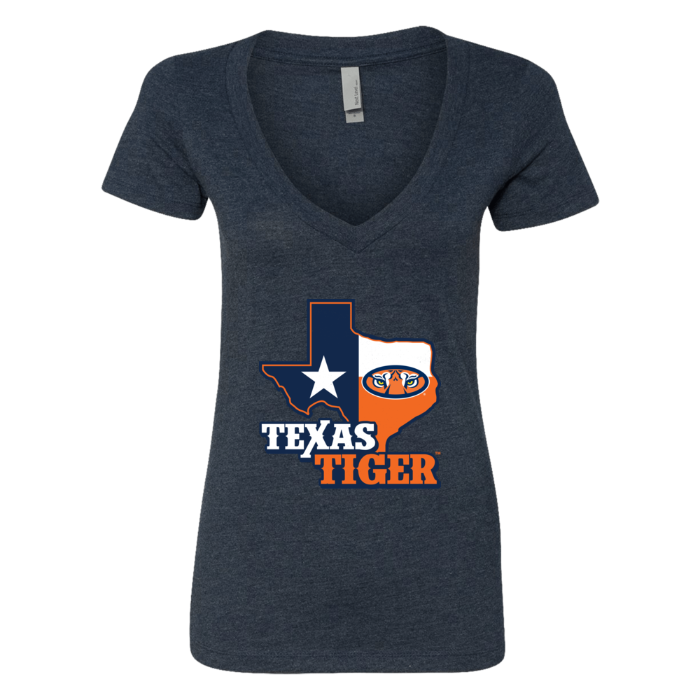 Auburn Tigers - Texas Map Mascot Front picture