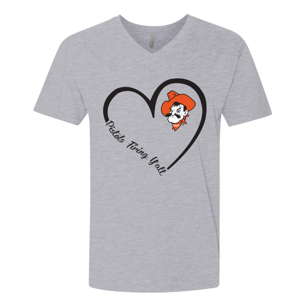 Oklahoma State Cowboys - Heart 3/4 - Slogan Y'all Front picture