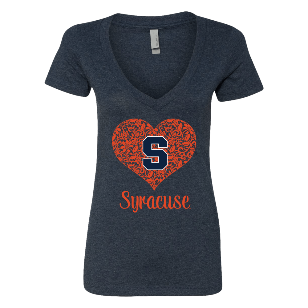 Syracuse Orange -  Lace Heart Logo Front picture