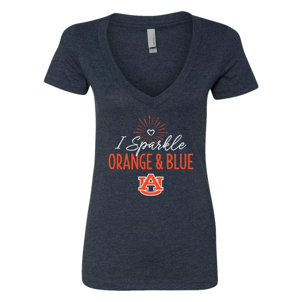 I Sparkle Auburn School Colors T-Shirt | Tank Front picture