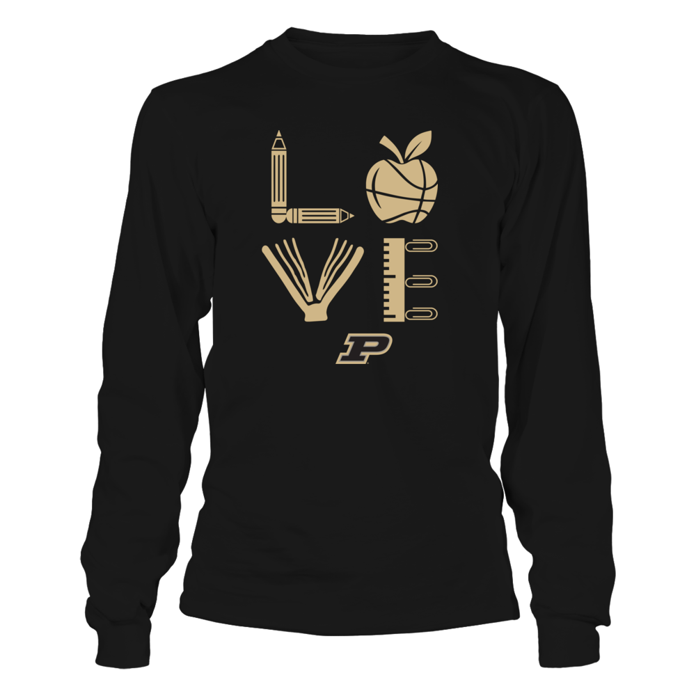 Purdue Boilermakers - Teacher - Stacked Love Basketball Front picture