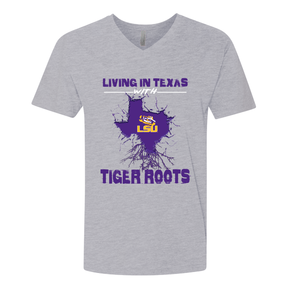 LSU Tigers - Team Roots - Cracked State Map Front picture