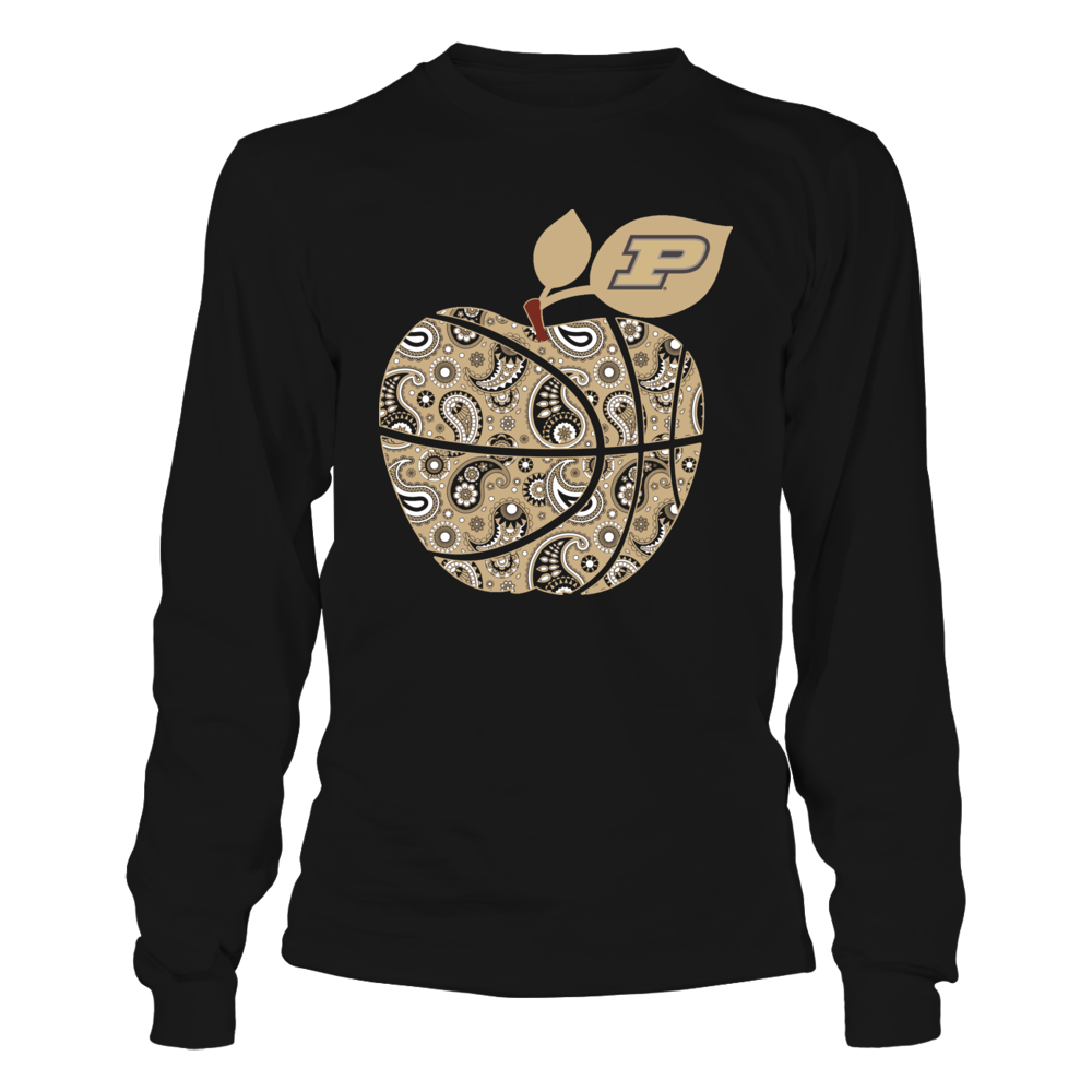 Purdue Boilermakers - Teacher - Paisley Basketball Apple Front picture