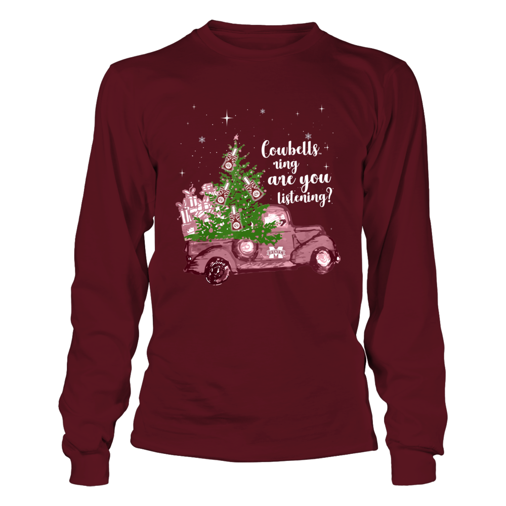 Mississippi State Bulldogs - Cowbells Ring - Christmas Truck Front picture