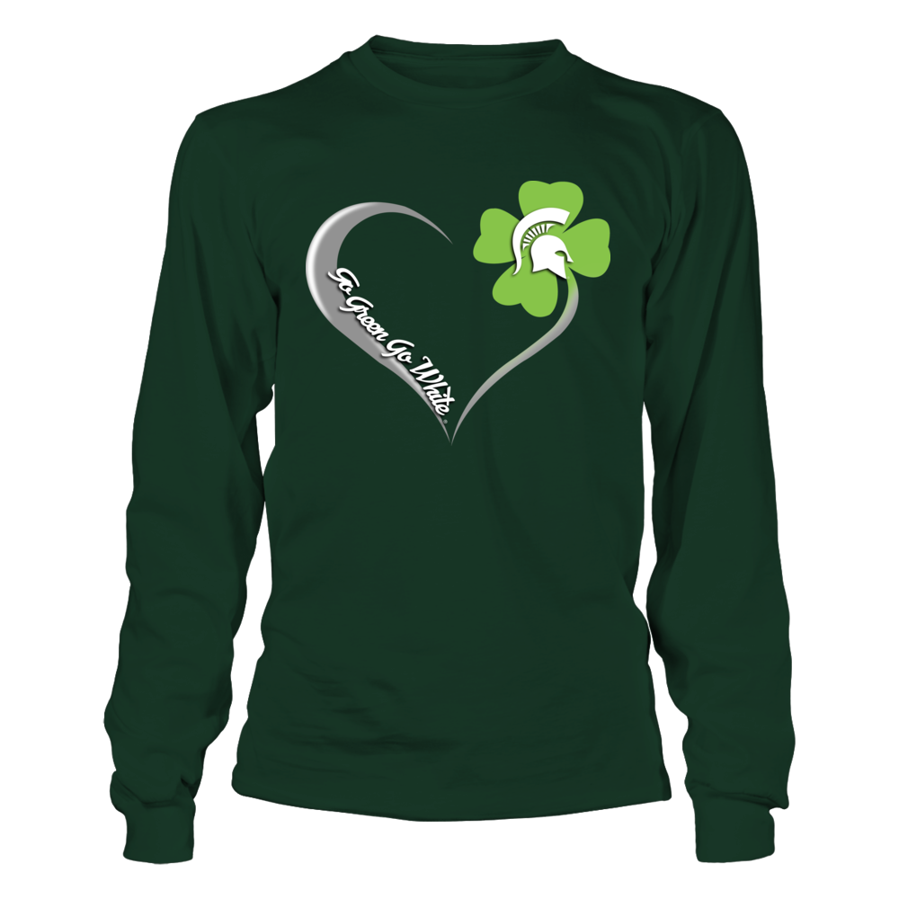Michigan State Spartans - St Patrick's Day - Shamrock Heart Front picture