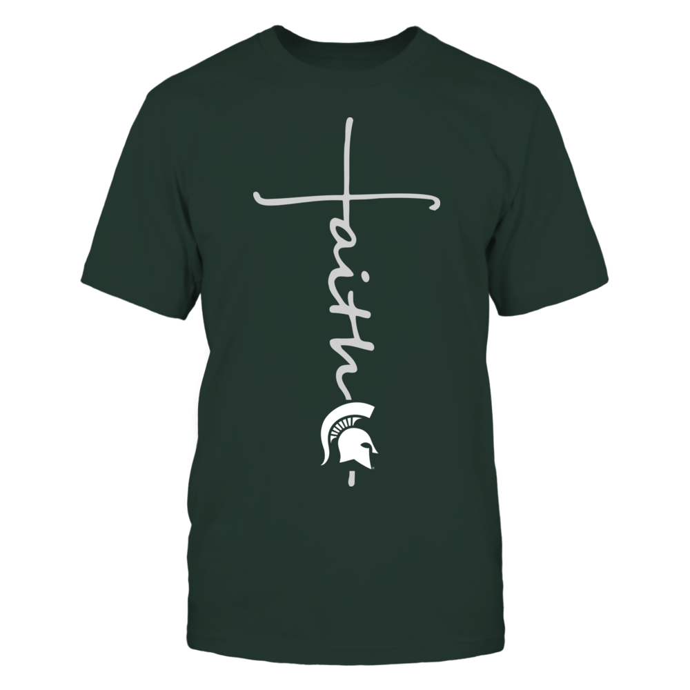 Michigan State Spartans - Faith in Cross Shape Front picture