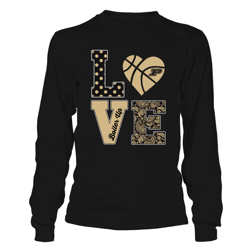 Purdue Boilermakers - Stacked Love - Basketball Heart Front picture
