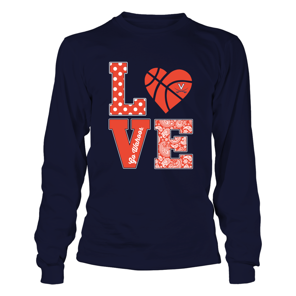 Virginia Cavaliers - Stacked Love - Basketball Heart Front picture