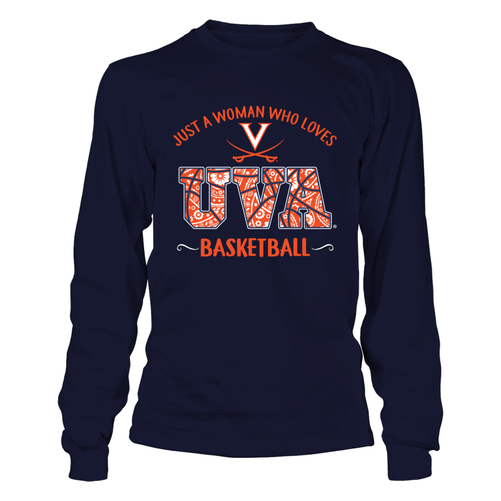 Virginia Cavaliers - Just A Woman Loves Basketball Front picture