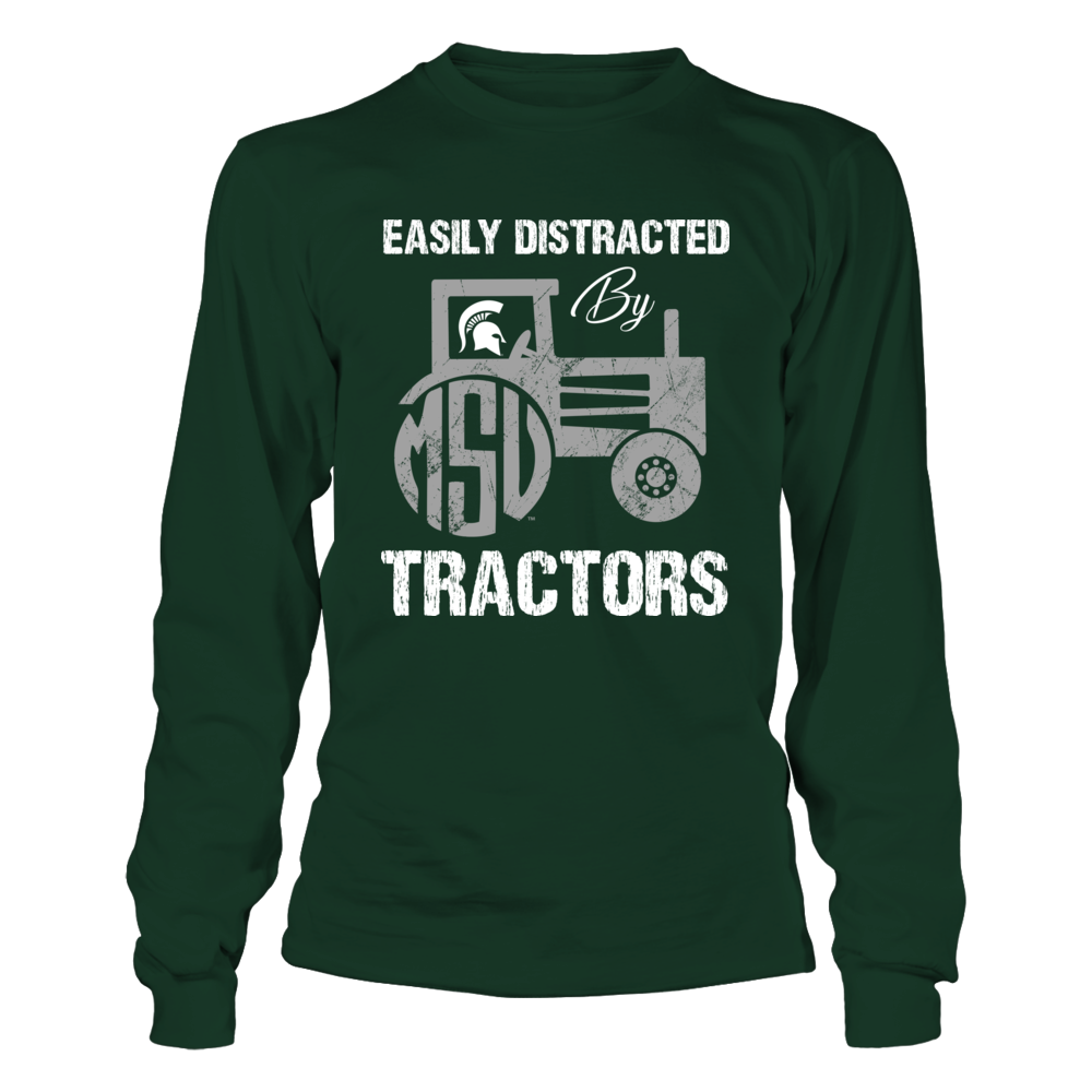 Michigan State Spartans - Easily Distracted By Tractors - Monogram Front picture