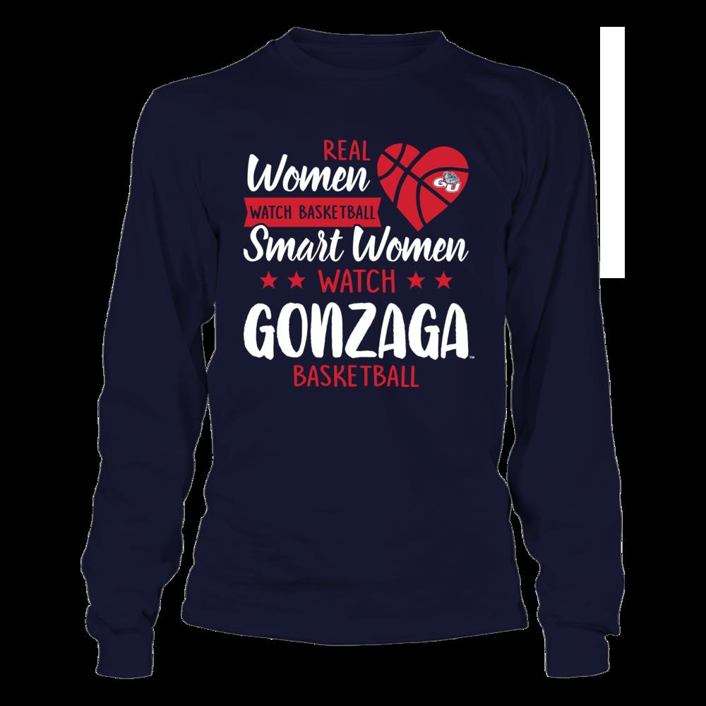 Gonzaga Bulldogs - Real Women - Smart Women Watch Basketball Front picture