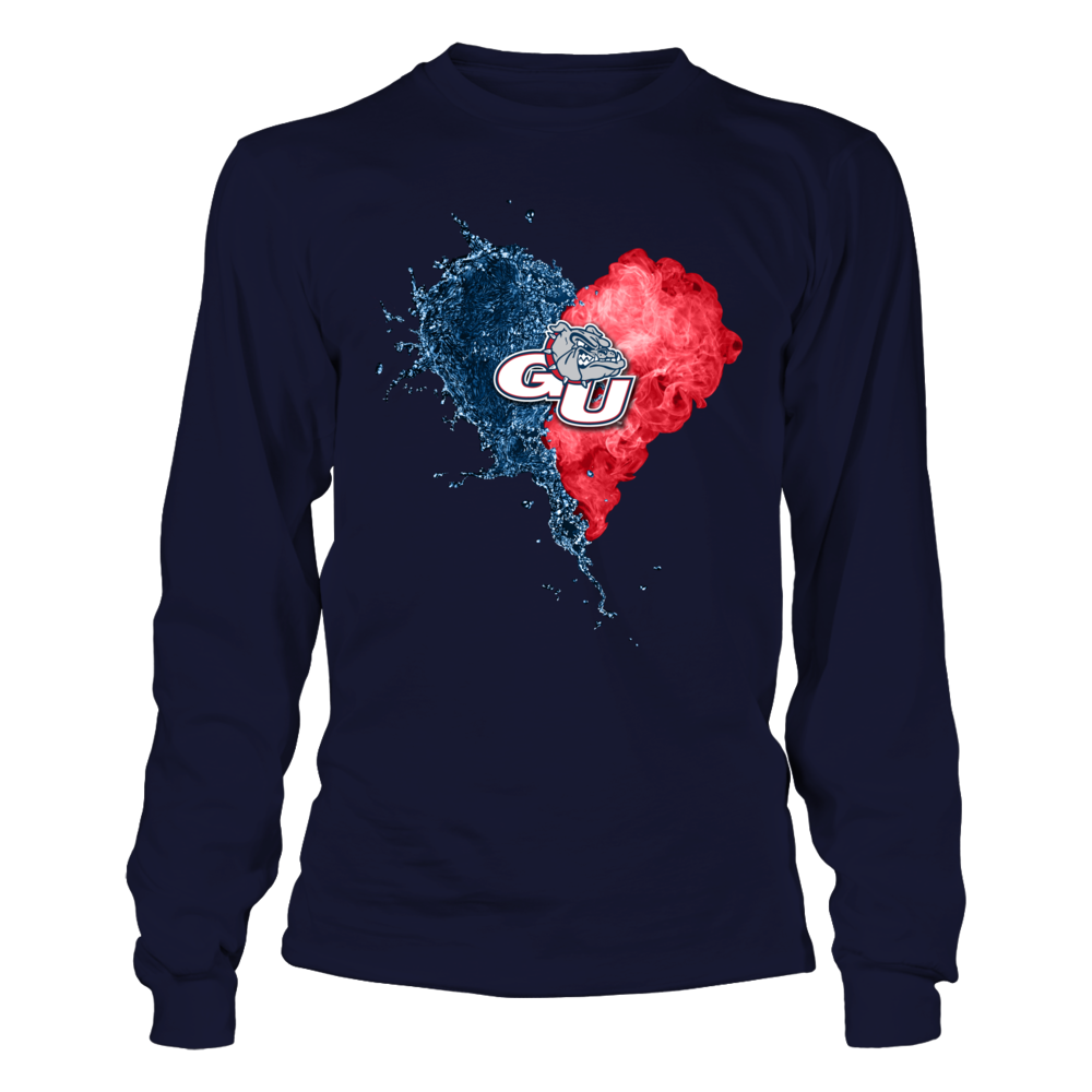 Gonzaga Bulldogs - Fire And Water Heart Front picture