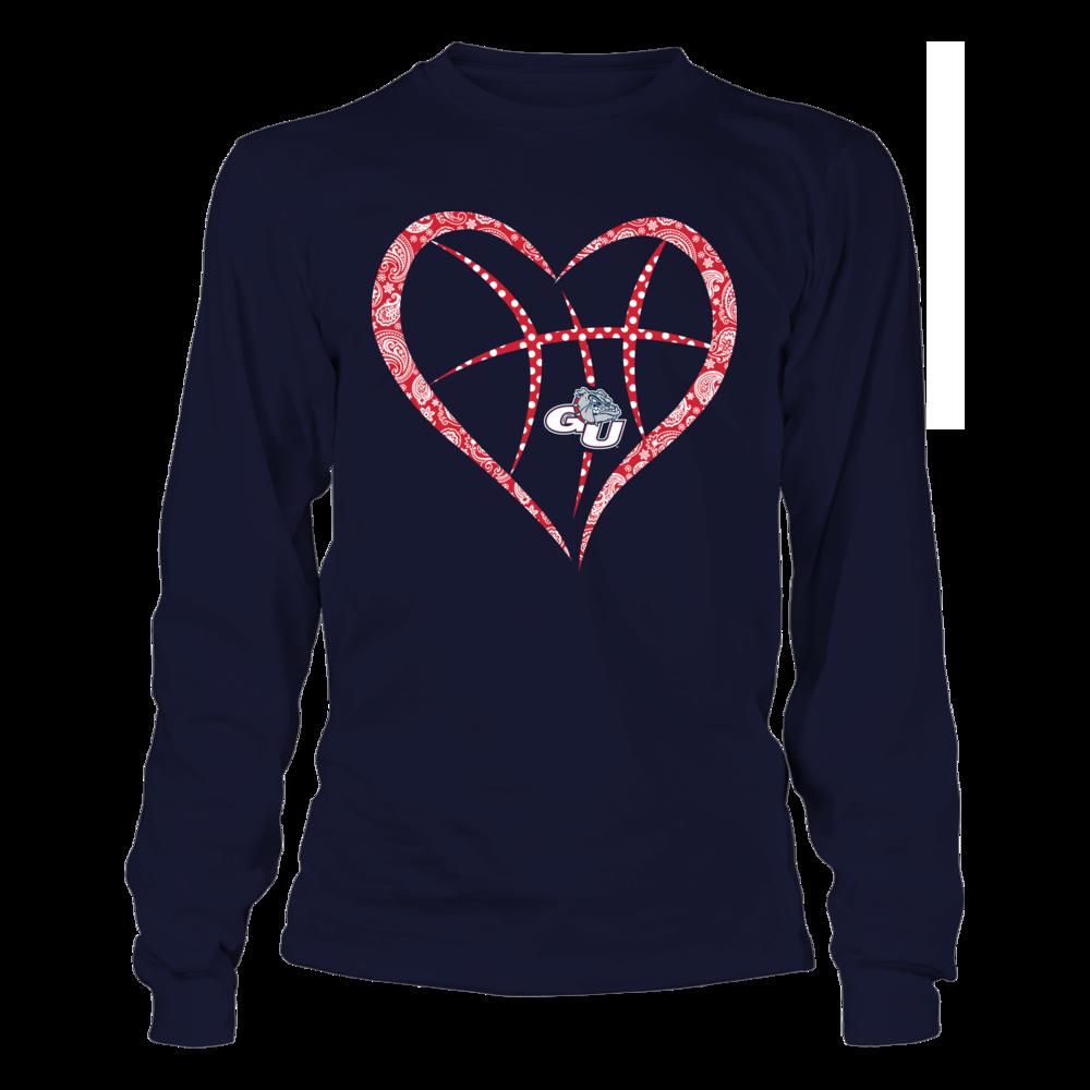 Gonzaga Bulldogs - Pattern Heart Basketball Front picture