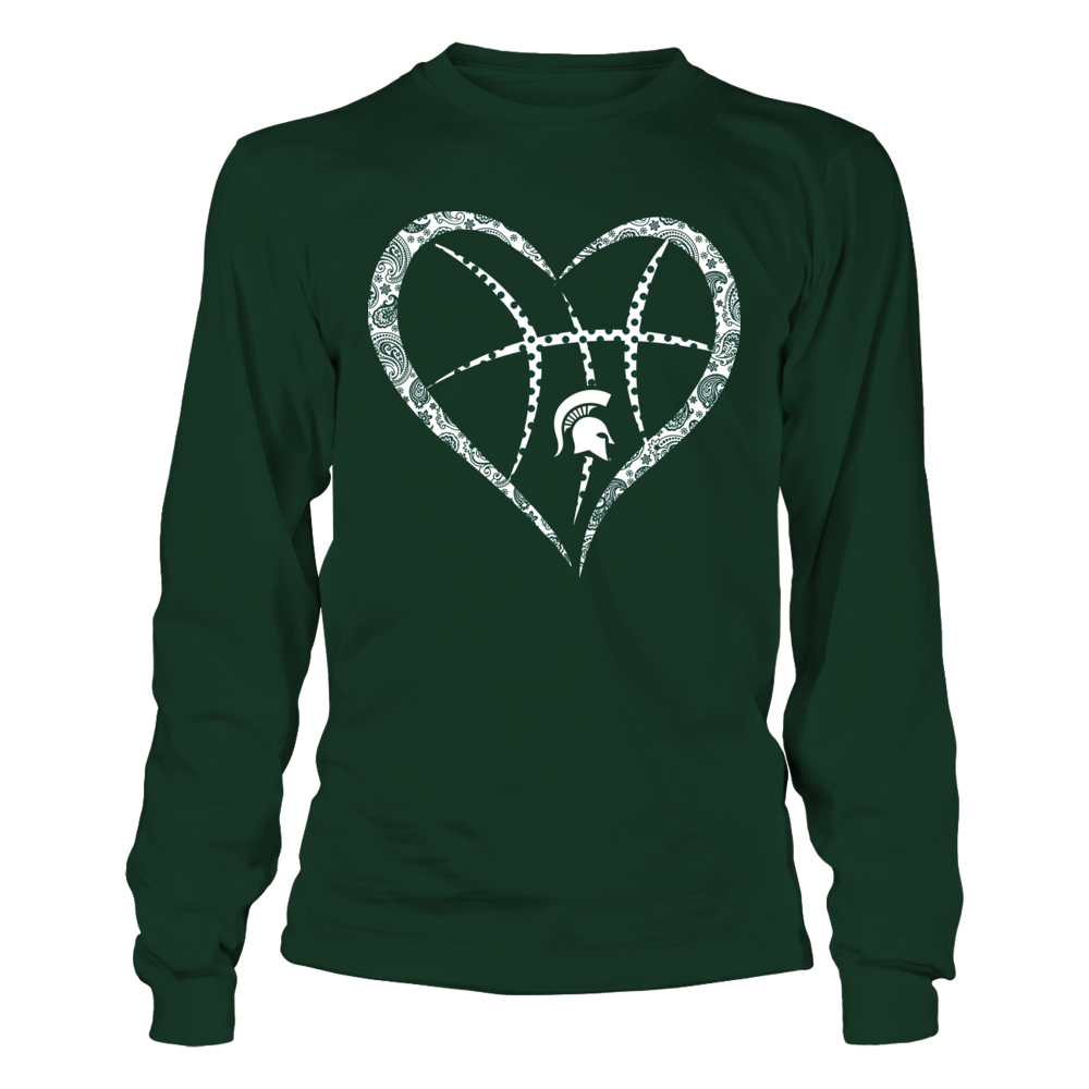 Michigan State Spartans - Pattern Heart Basketball Front picture