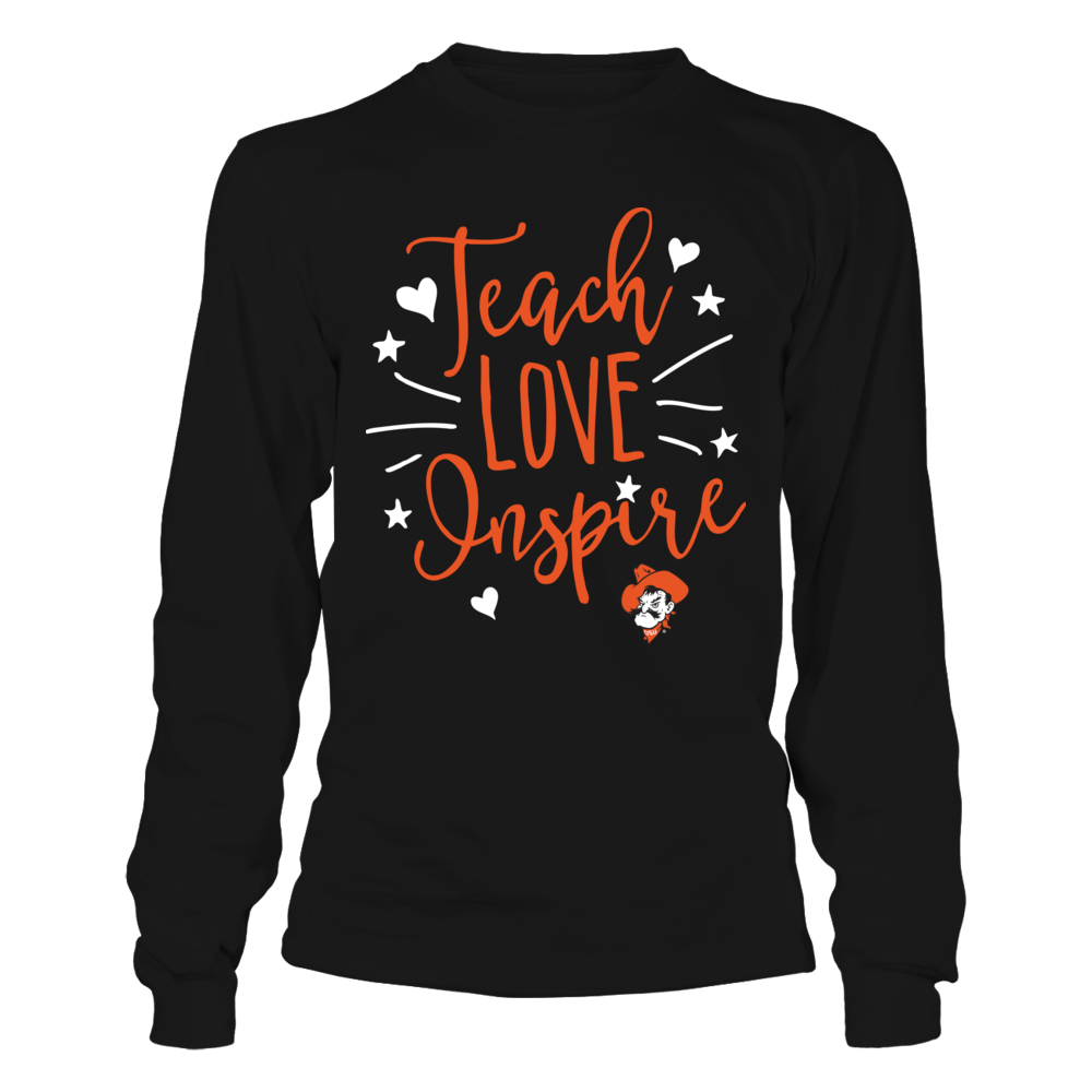 Oklahoma State Cowboys - Teacher - Teach Love Inspire Front picture