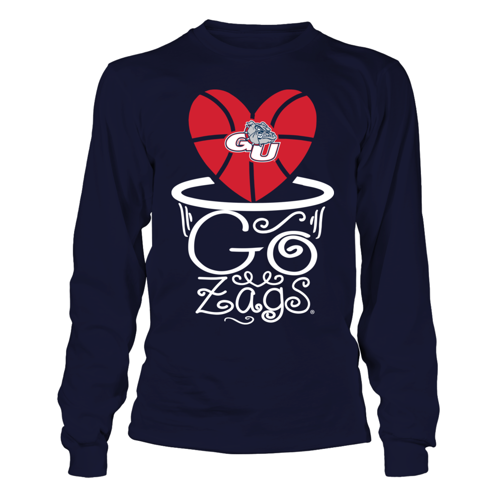 Gonzaga Bulldogs - Slogan Inside Basketball Basket Front picture