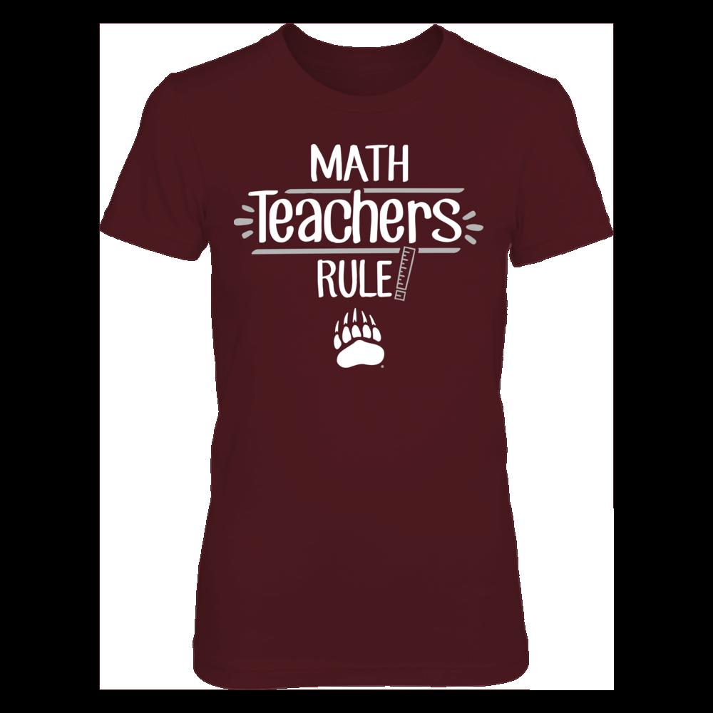Montana Grizzlies  - Math Teachers Rule Front picture