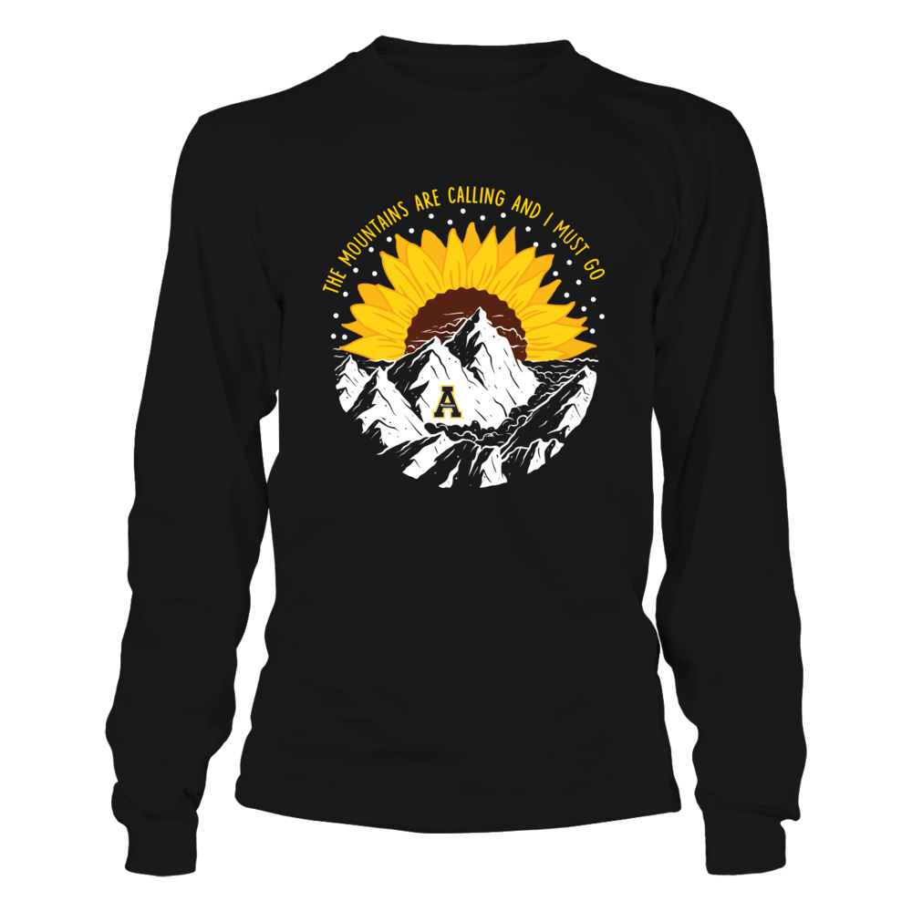 Appalachian State Mountaineers - Half Sunflower - The Mountains Are Calling Front picture