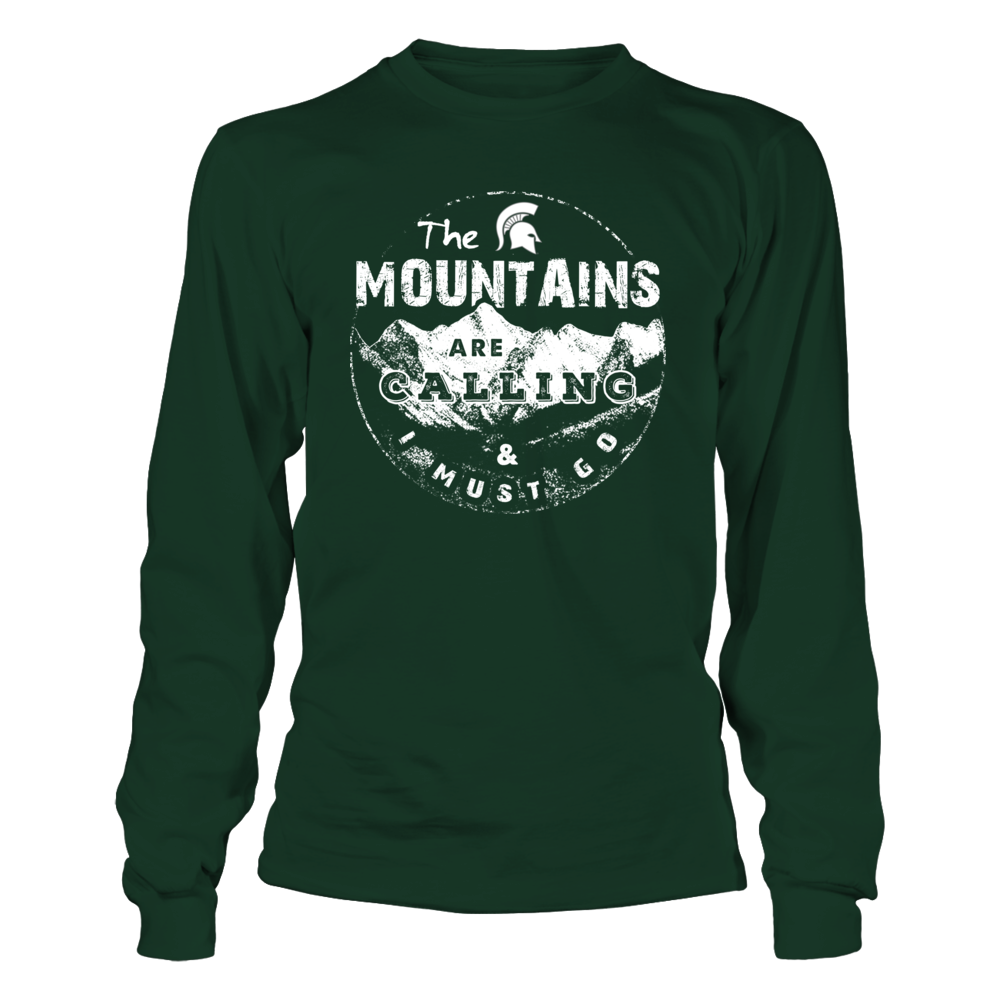 Michigan State Spartans - Camping - The Mountains Are Calling Front picture