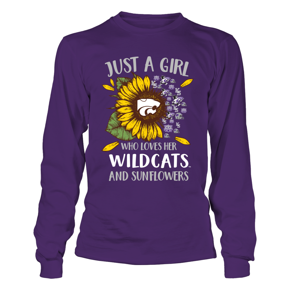 Kansas State Wildcats - Just A Girl Who Loves Her Team And Sunflower Front picture
