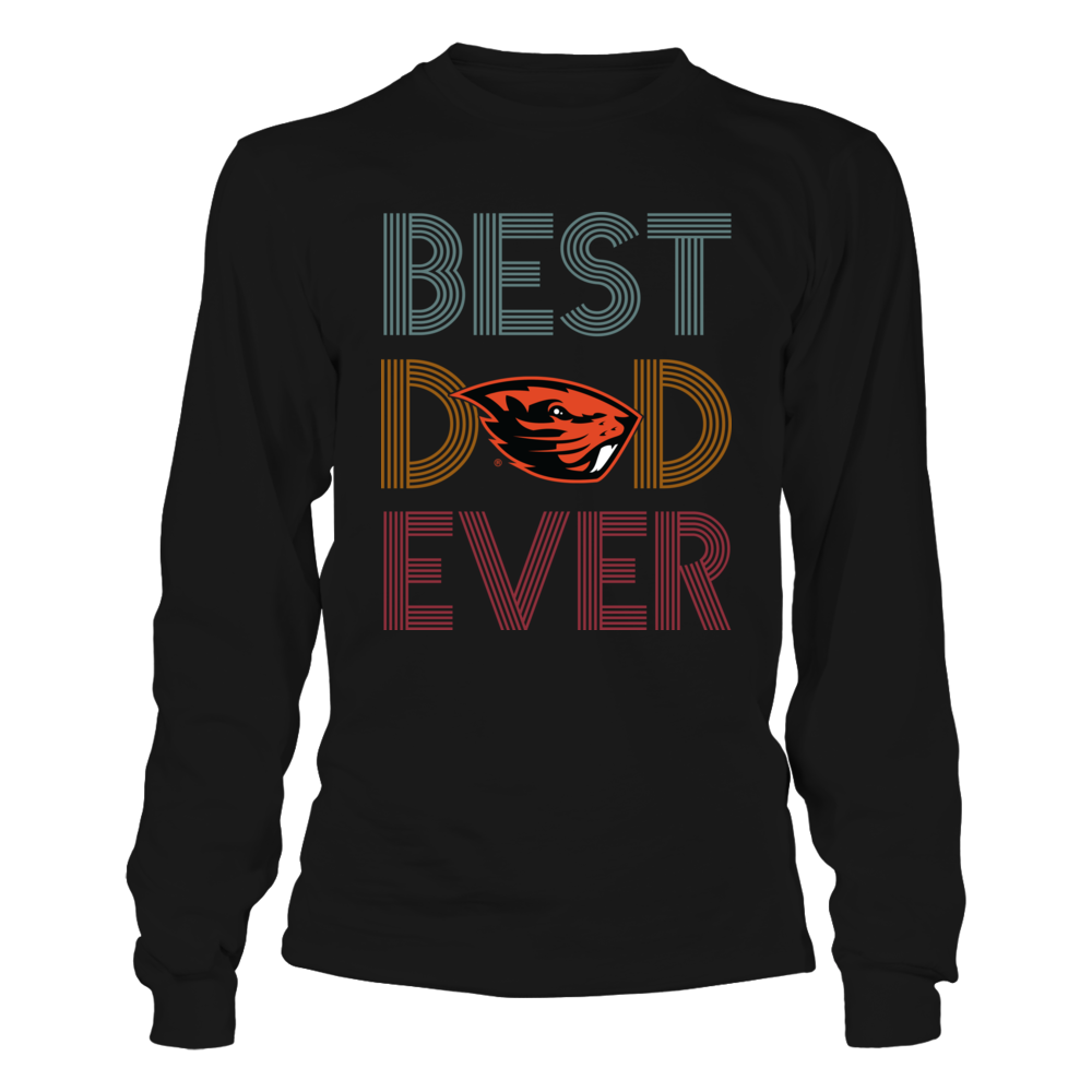 Oregon State Beavers - Best Dad Ever - Retro Style Front picture