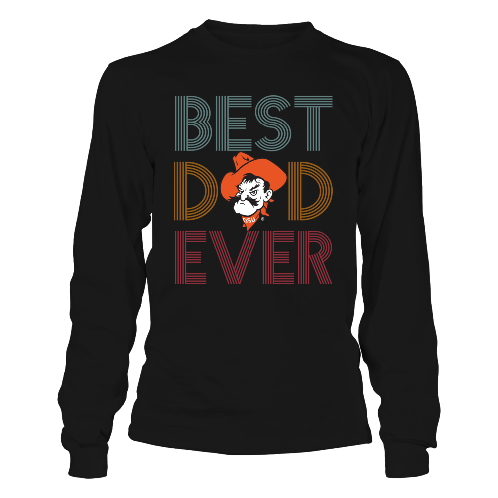 Oklahoma State Cowboys - Best Dad Ever - Retro Style Front picture