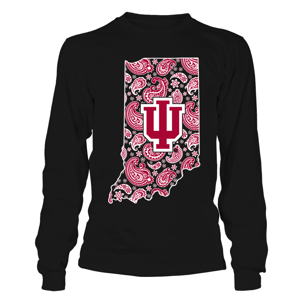 Indiana Hoosiers - Paisley State Map Front picture