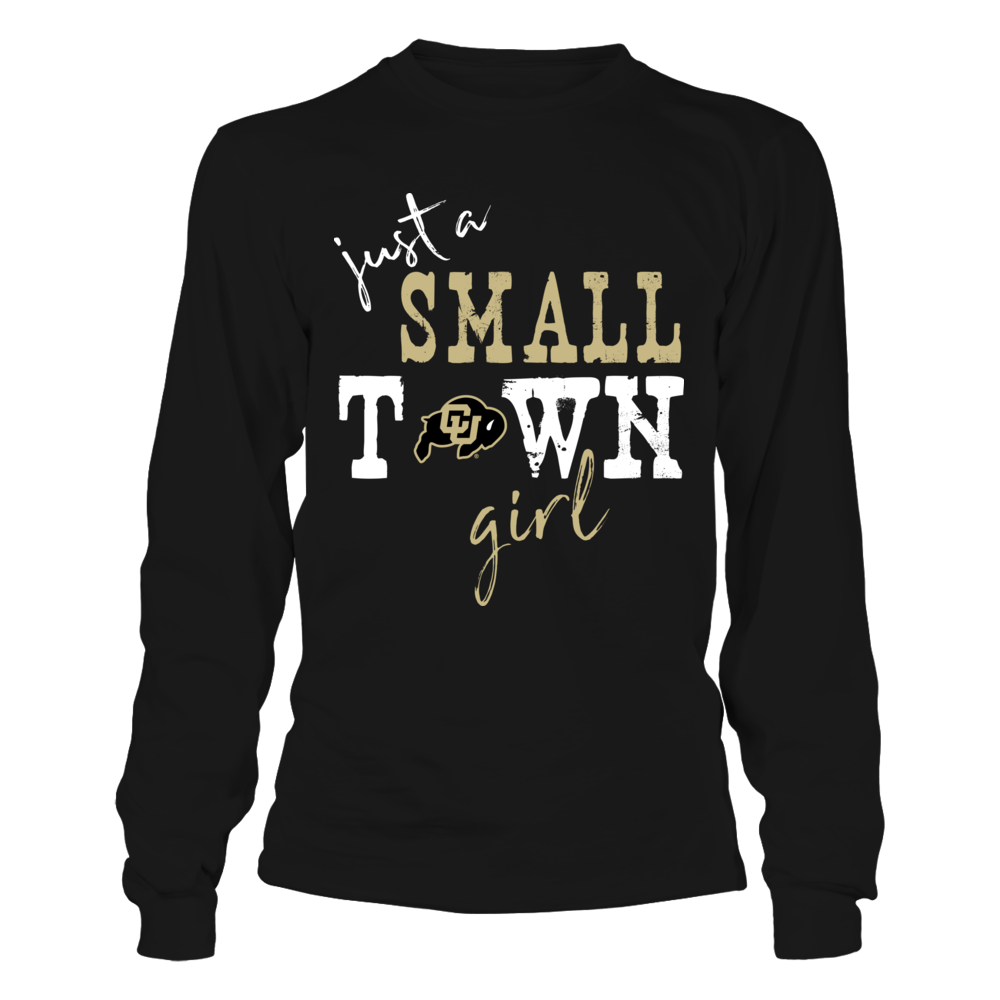 Colorado Buffaloes - Small Town Girl - Logo - Dark Color Front picture