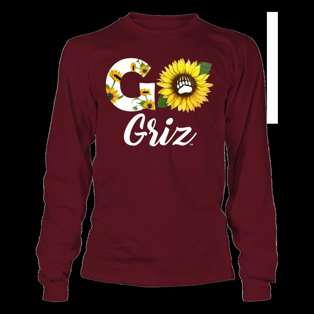 Montana Grizzlies - Sunflower Slogan Front picture