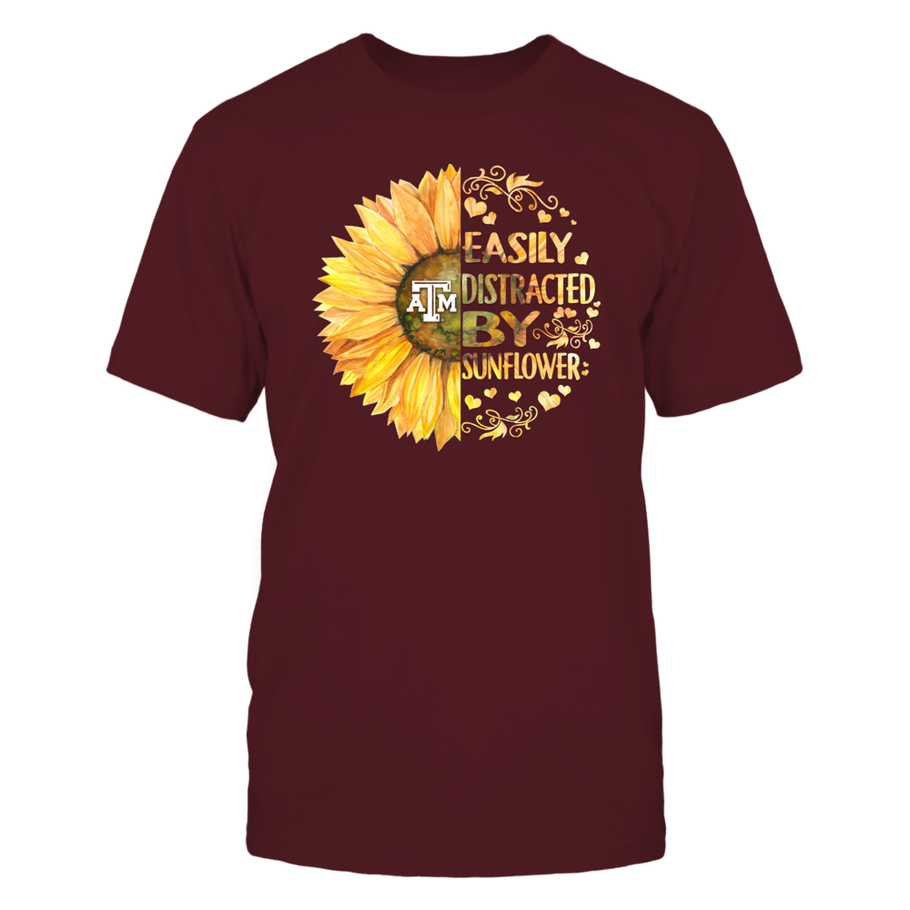 Texas A&M Aggies - Easily Distracted By Sunflower Front picture