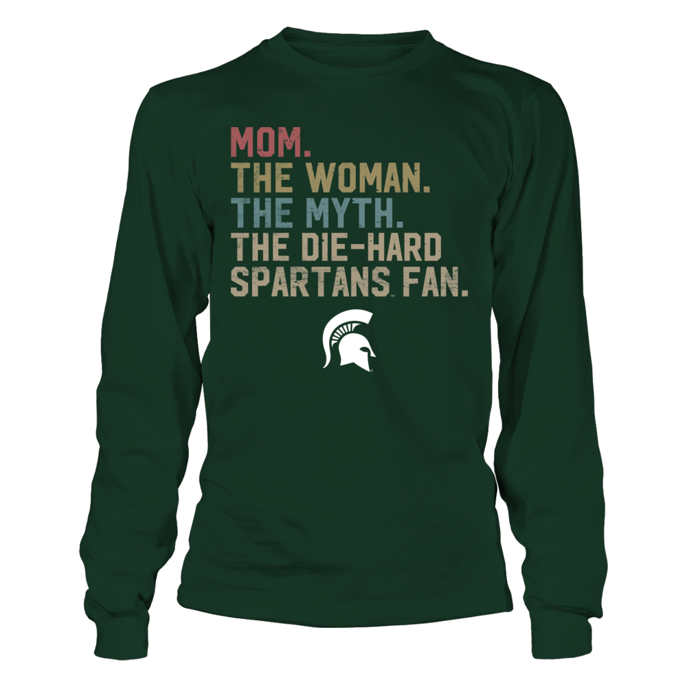 Michigan State Spartans - Mom - The Woman - Myth - Legend - Retro Style Front picture