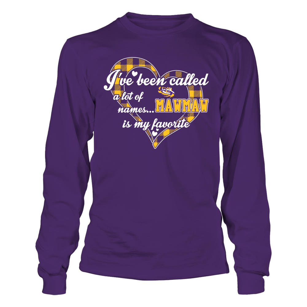 LSU Tigers - Heart Checkered Pattern - My Favorite Name - Grandma Front picture
