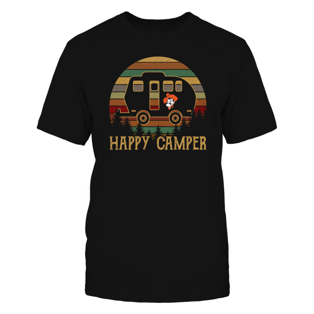 Oklahoma State Cowboys - Camping - Happy Camper - Retro Style - Ver 2 Front picture