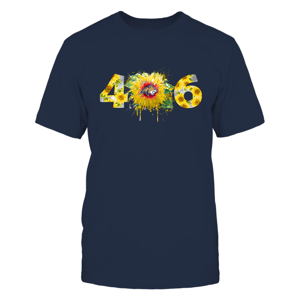Montana State Bobcats - Color Drop Area Code Sunflower Front picture