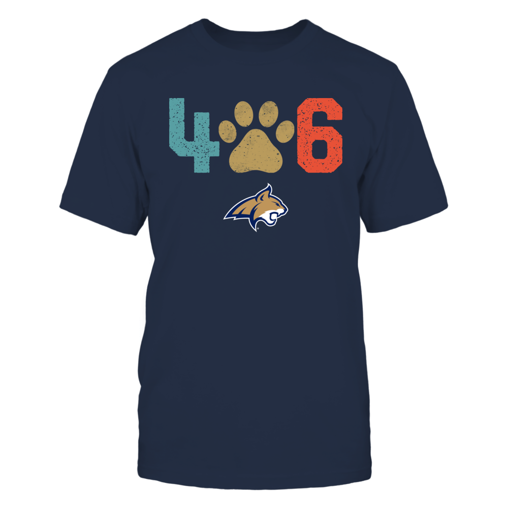 Montana State Bobcats - Area Code - Paw - Retro Style Front picture