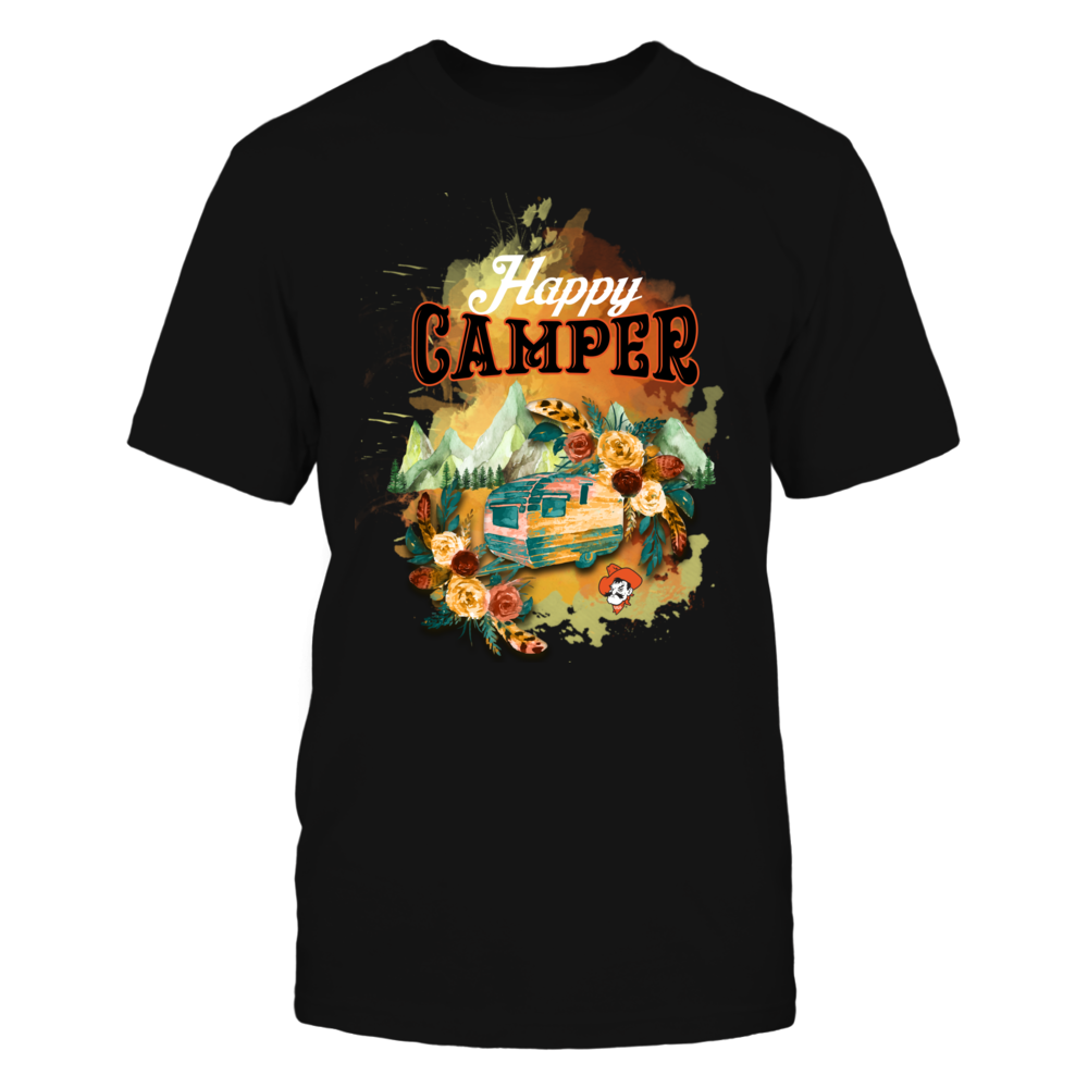 Oklahoma State Cowboys - Happy Campers Vintage Camping Car Front picture