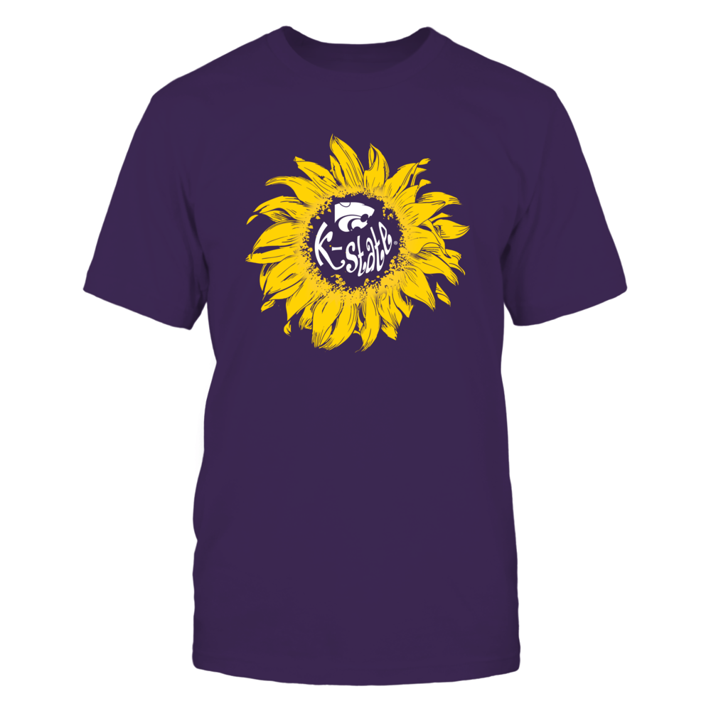 Kansas State Wildcats - Sunflower Monogram Pocket Design Front picture