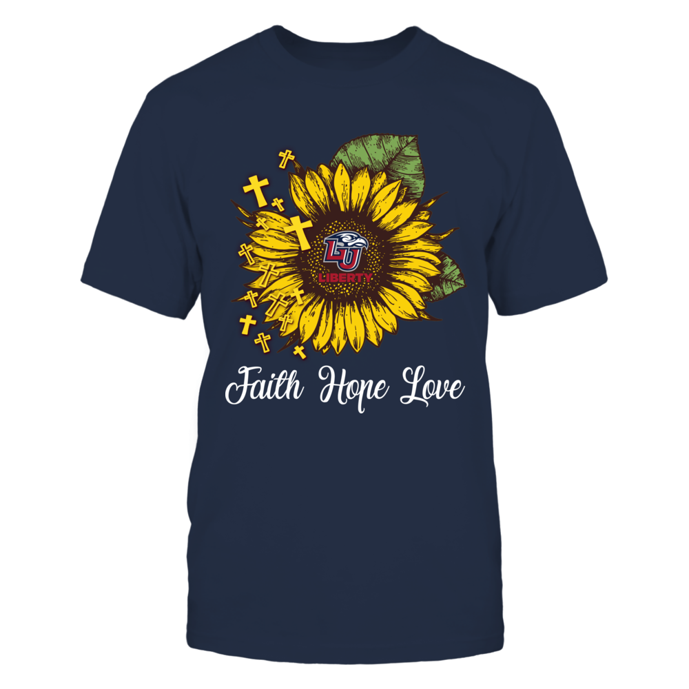 Liberty Flames - Faith Hope Love Sunflower Front picture